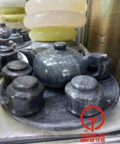 Bộ ấm trà đá đen