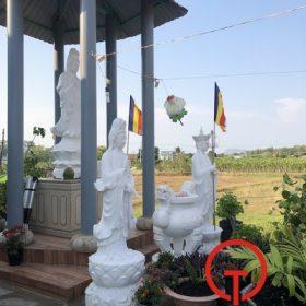 Chế tác và lắp đặt hoàn thiện bộ tượng Phật - Đại Từ Bi Tâm Tự - Phan Thiết