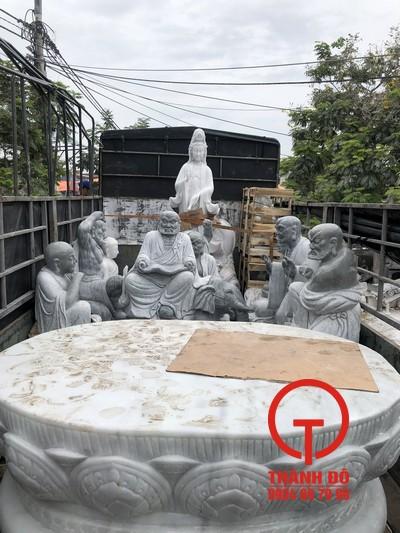 Chế tác và lắp đặt trọn gói bộ tượng 18 vị La Hán - Chùa Bửu Linh - Bạc Liêu