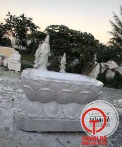 Đế tượng Phật hình hoa sen