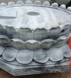 Đế tượng Phật hoa sen bằng đá