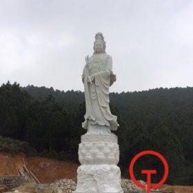Điêu khắc và lắp đặt trọn gọi tượng Quan Âm 10m