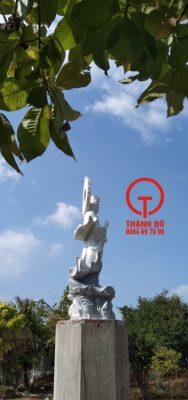 Điêu khắc và lắp đặt tượng Quan Âm 5m - Tịnh xá Ngọc Lâm - Bạc Liêu
