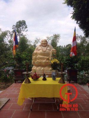 Hoàn thiện lắp đặt tượng Di Lặc - Chùa Phúc Diên - Bắc Ninh