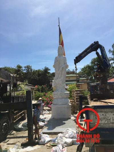 Trọn gói bộ tượng Quan Âm 5m - Tòng Lâm Vạn Thiện - Phan Thiết