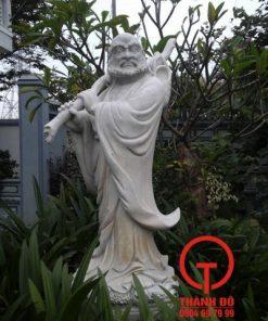 Tượng Đạt Ma Sư Tổ đá trắng