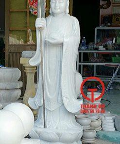 Tượng Địa Tạng Vương Bồ Tát đá trắng tự nhiên