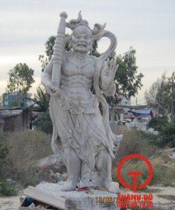 Tượng Kim Cang bằng đá tự nhiên nguyên khối