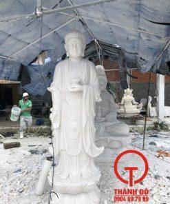 Tượng Phật A Di Đà đá cẩm thạch trắng