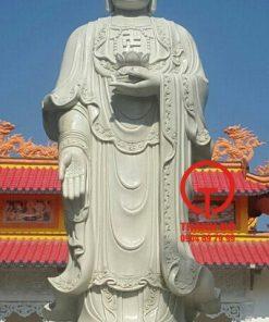 Tượng Phật A Di Đà đá cẩm thạch tự nhiên nguyên khối