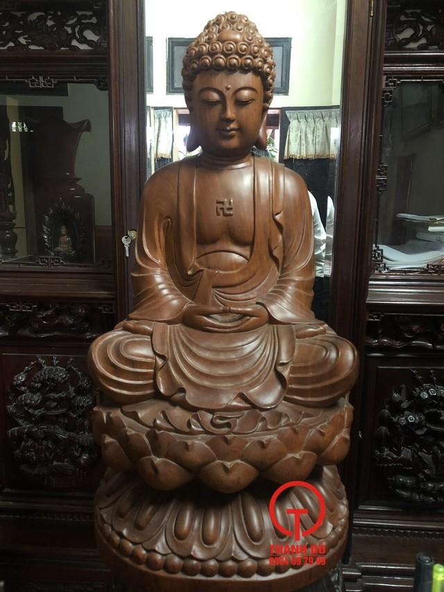Tượng Phật A Di Đà gỗ