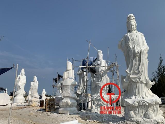 Tượng Phật Quan Âm đá mỹ nghệ Thành Đô - 100% đá tự nhiên, nguyên khối