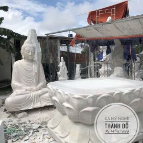 Tượng Phật Thích Ca 3.2m đế rời được hoàn thành tại xưởng