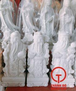 Tượng Phúc Lộc Thọ nhỏ đá trắng