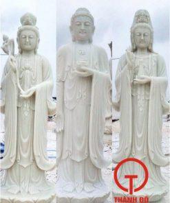 Tượng Tây Phương Tam Thánh đá cẩm thạch