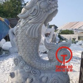 Tượng cá chếp hóa rồng đá tự nhiên