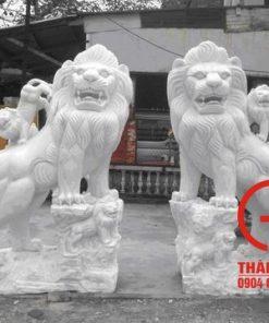 Tượng sư tử bằng đá cẩm thạch tự nhiên