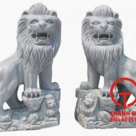 Tượng sư tử đá cẩm thạch tự nhiên