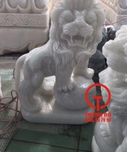 Tượng sư tử đá cao 40cm
