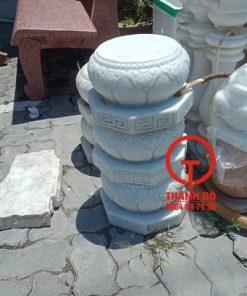 Chân tảng kê cột nhà đá trắng