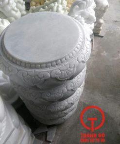 Kê cột nhà gỗ đá trắng