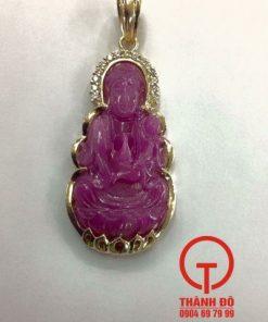 Mặt dây chuyền Phật Bà Quan Âm bọc vàng