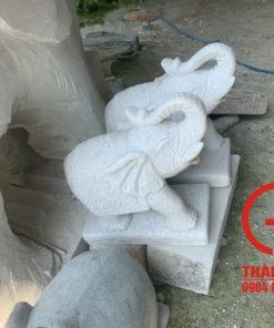 Tượng voi đá cao 40cm